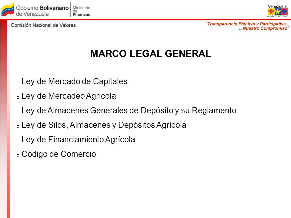 MARCO LEGAL GENERAL Ley de Mercado de Capitales