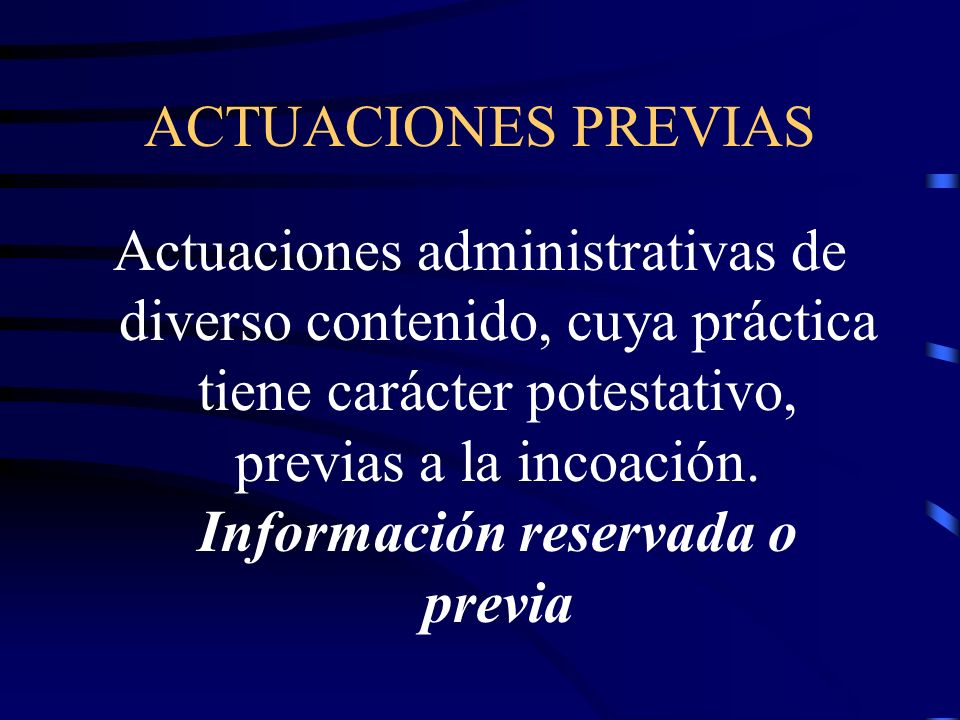 ACTUACIONES PREVIAS