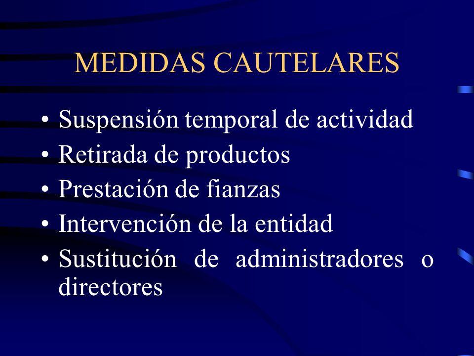 MEDIDAS CAUTELARES Suspensión temporal de actividad