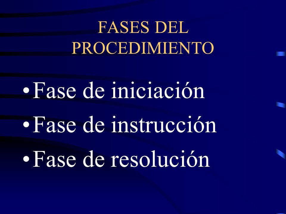 FASES DEL PROCEDIMIENTO