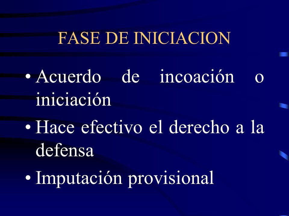 Acuerdo de incoación o iniciación