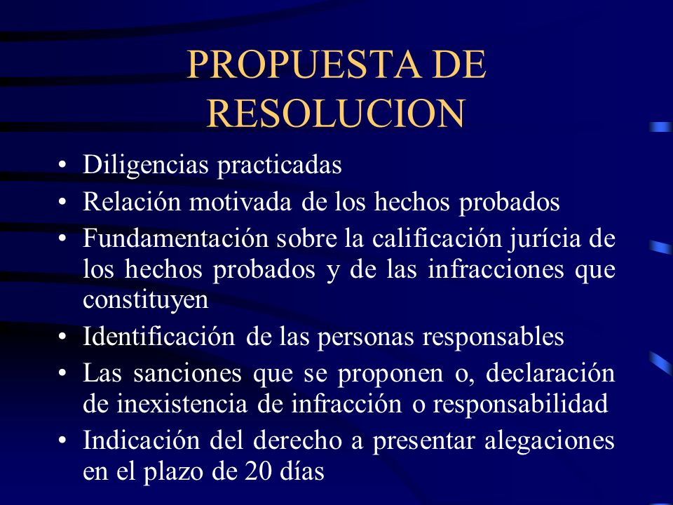 PROPUESTA DE RESOLUCION