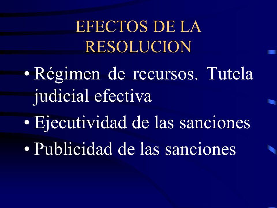 EFECTOS DE LA RESOLUCION