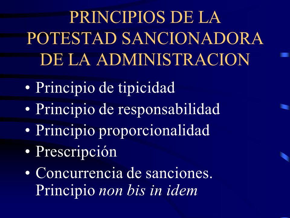 PRINCIPIOS DE LA POTESTAD SANCIONADORA DE LA ADMINISTRACION