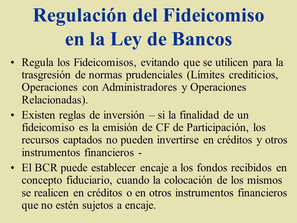 Regulación del Fideicomiso en la Ley de Bancos