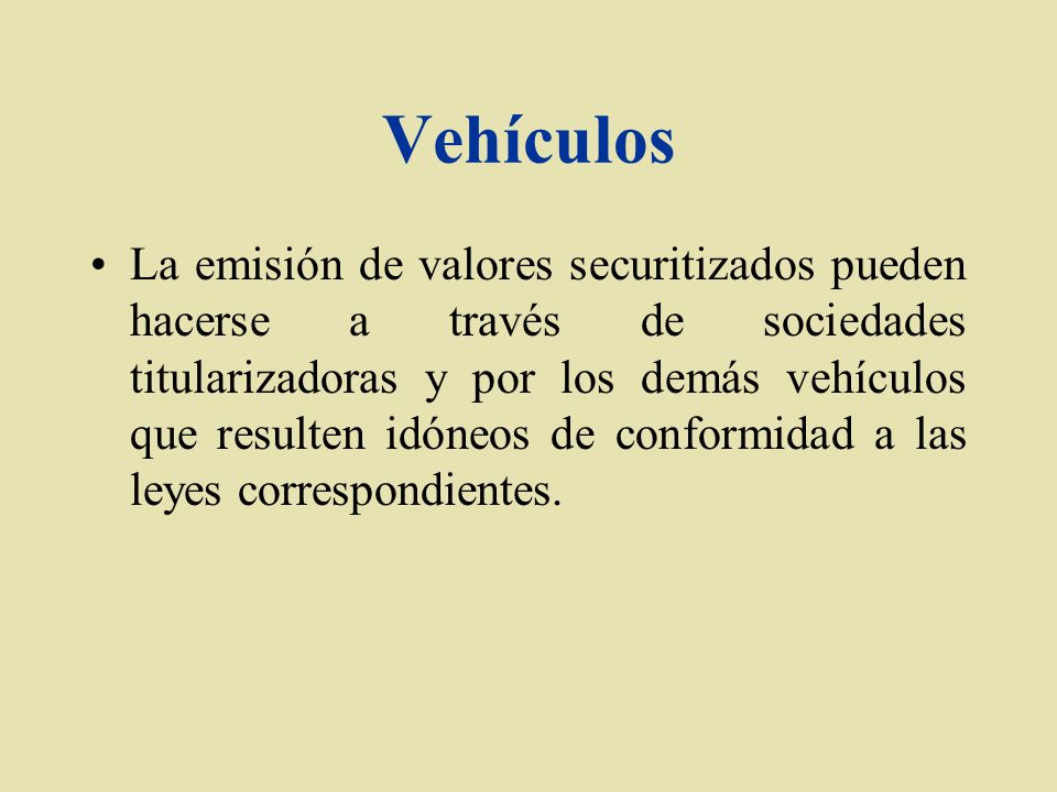 Vehículos
