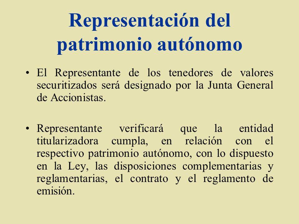 Representación del patrimonio autónomo