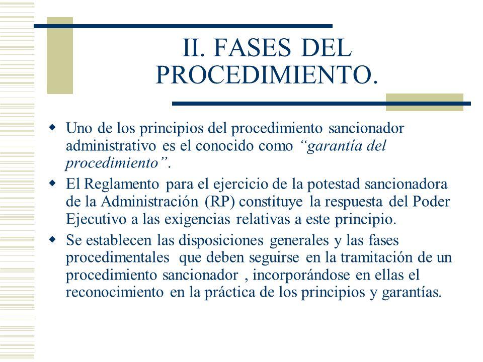 II. FASES DEL PROCEDIMIENTO.