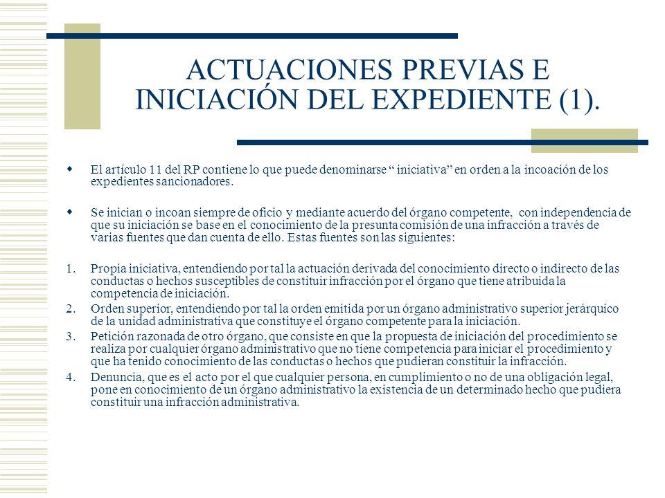 ACTUACIONES PREVIAS E INICIACIÓN DEL EXPEDIENTE (1).