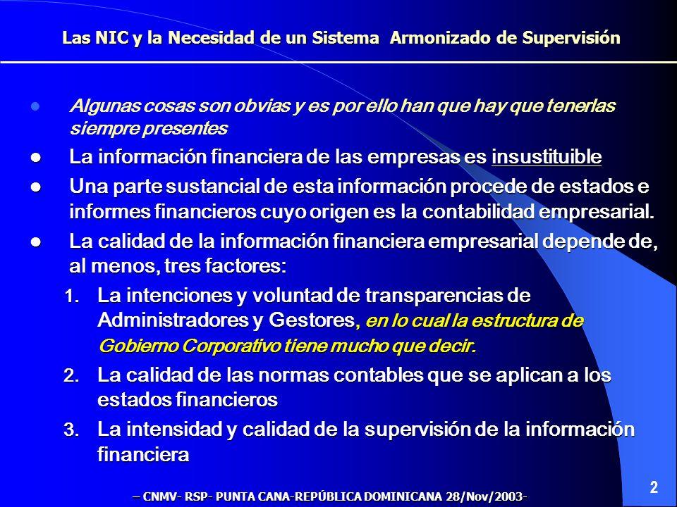 La información financiera de las empresas es insustituible