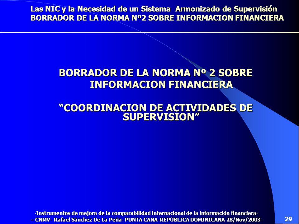 BORRADOR DE LA NORMA Nº 2 SOBRE INFORMACION FINANCIERA