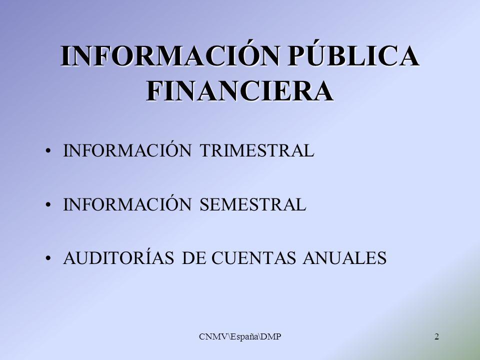 INFORMACIÓN PÚBLICA FINANCIERA