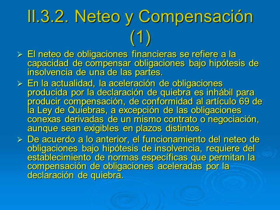 II.3.2. Neteo y Compensación (1)