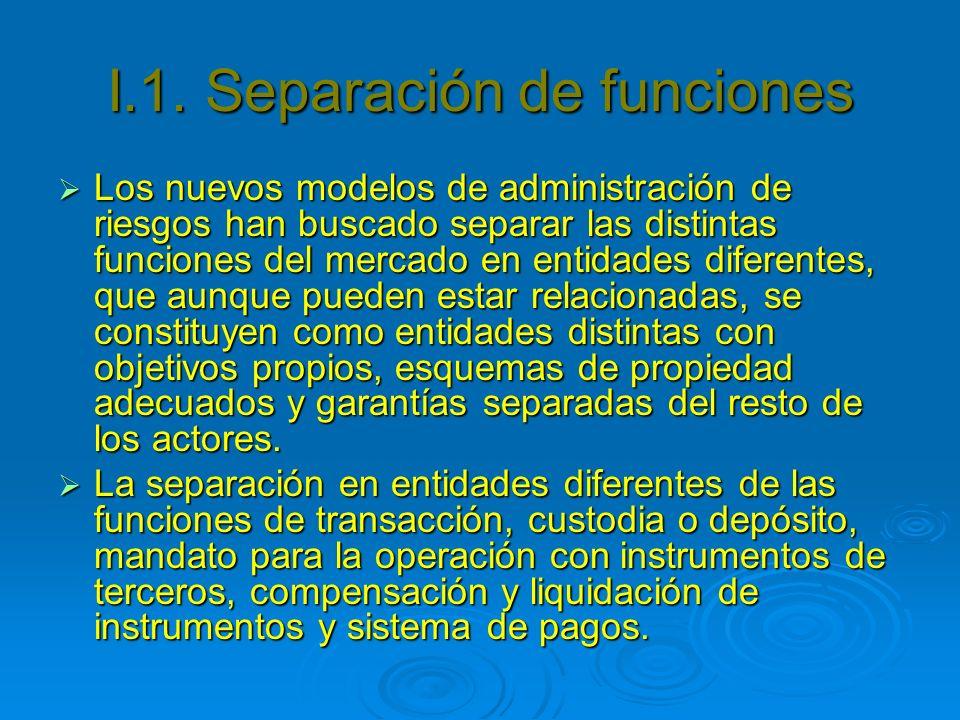 I.1. Separación de funciones