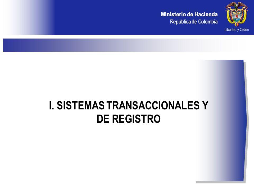I. SISTEMAS TRANSACCIONALES Y DE REGISTRO