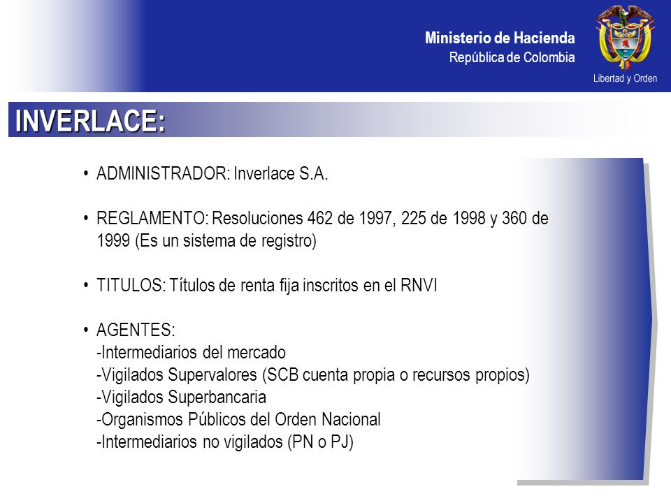 INVERLACE: ADMINISTRADOR: Inverlace S.A.
