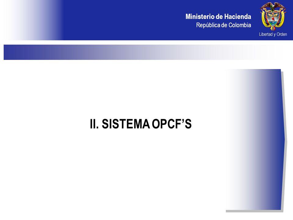 II. SISTEMA OPCF'S