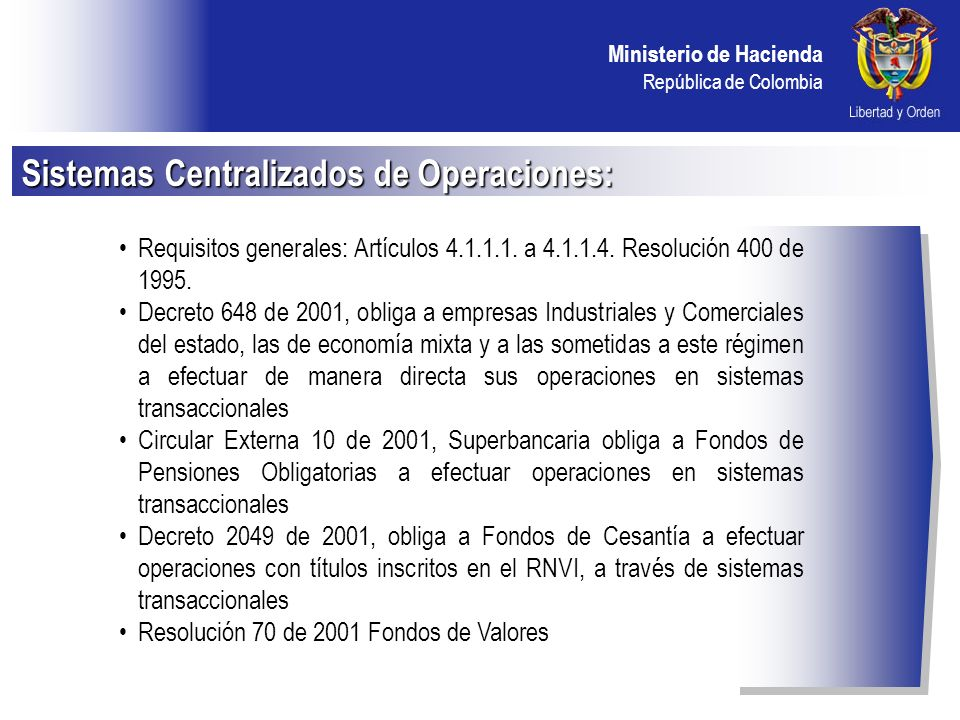 Sistemas Centralizados de Operaciones:
