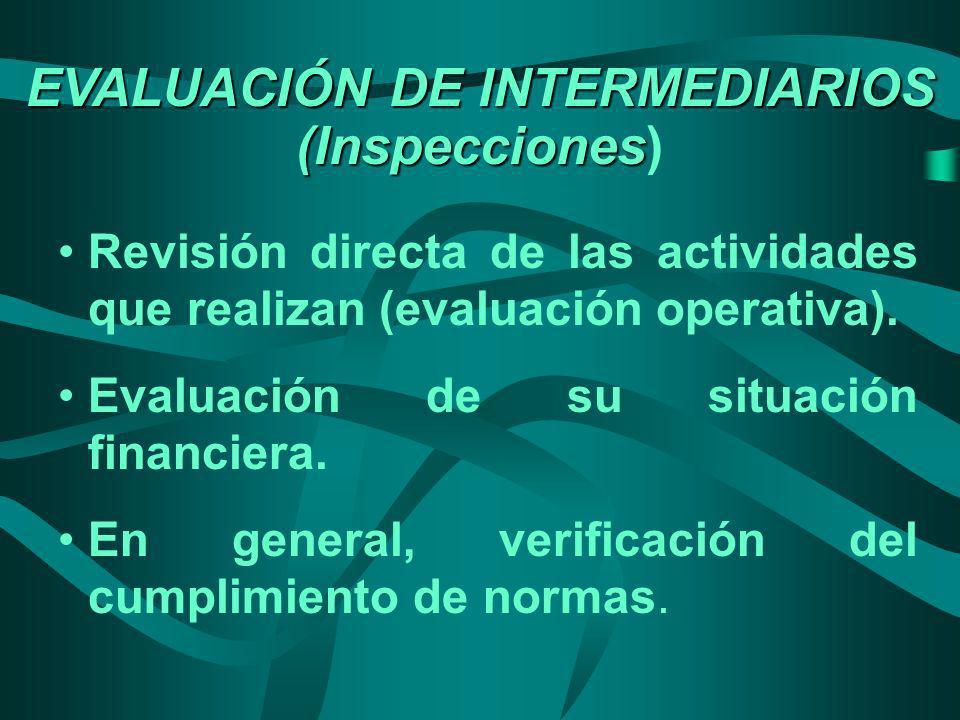 EVALUACIÓN DE INTERMEDIARIOS (Inspecciones)