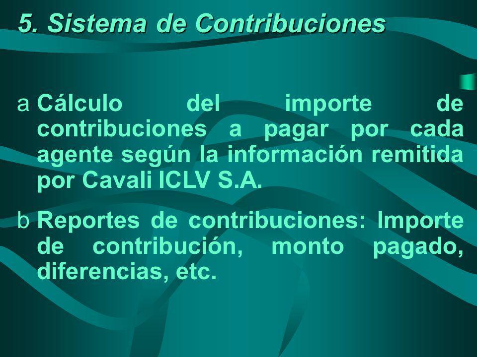 5. Sistema de Contribuciones