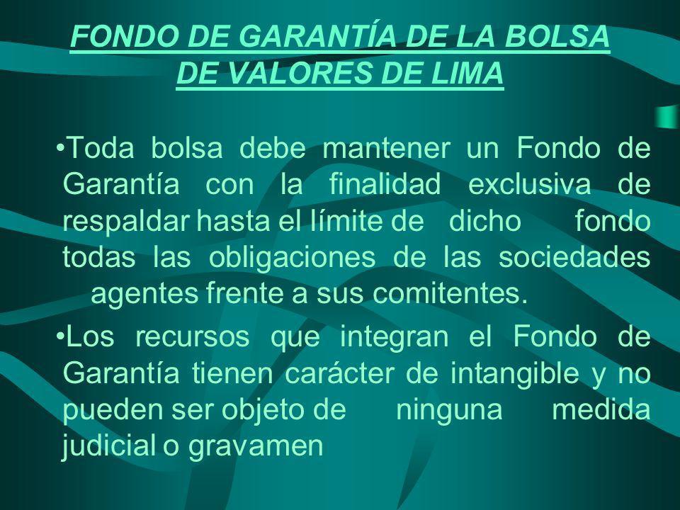 FONDO DE GARANTÍA DE LA BOLSA DE VALORES DE LIMA