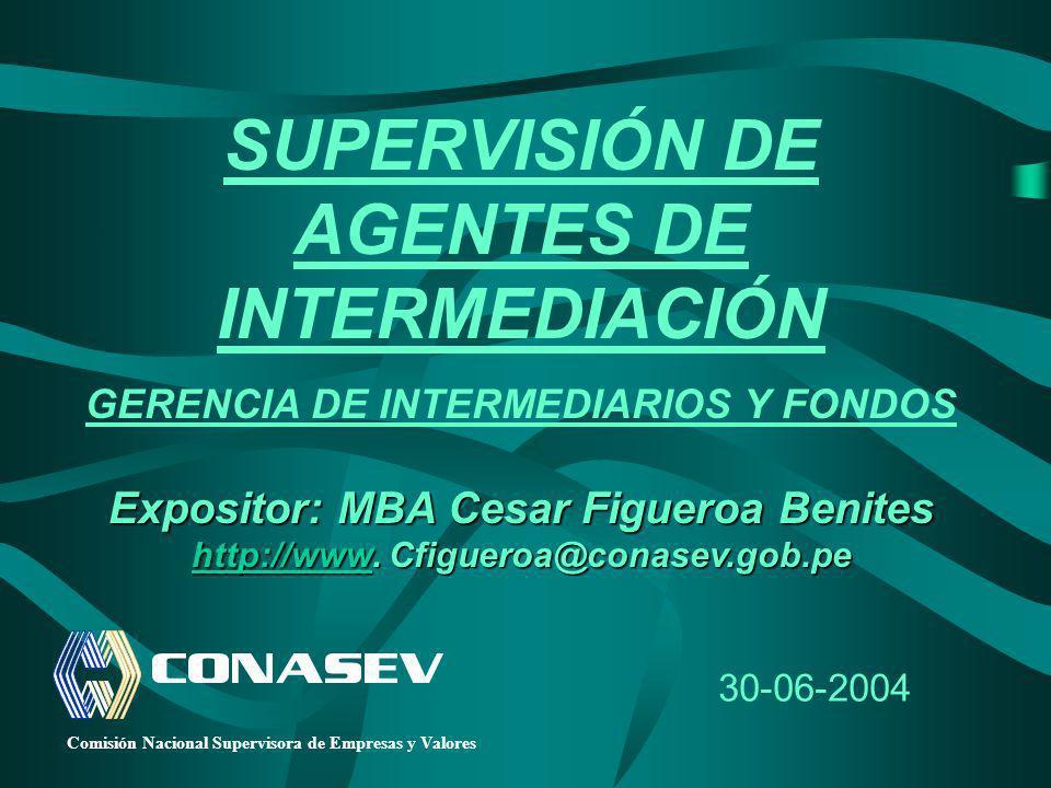 SUPERVISIÓN DE AGENTES DE INTERMEDIACIÓN