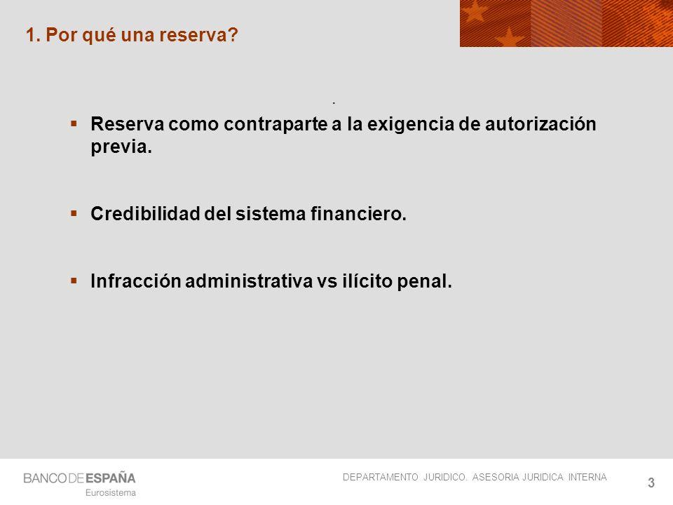 Reserva como contraparte a la exigencia de autorización previa.