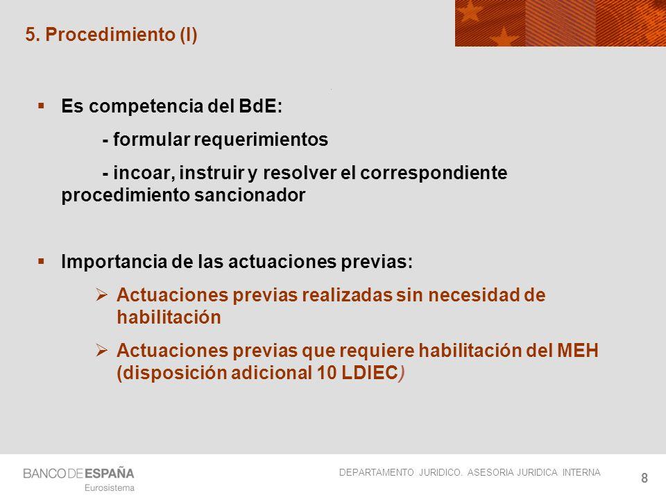 Es competencia del BdE: - formular requerimientos