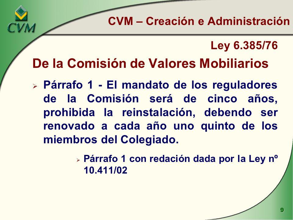 CVM – Creación e Administración