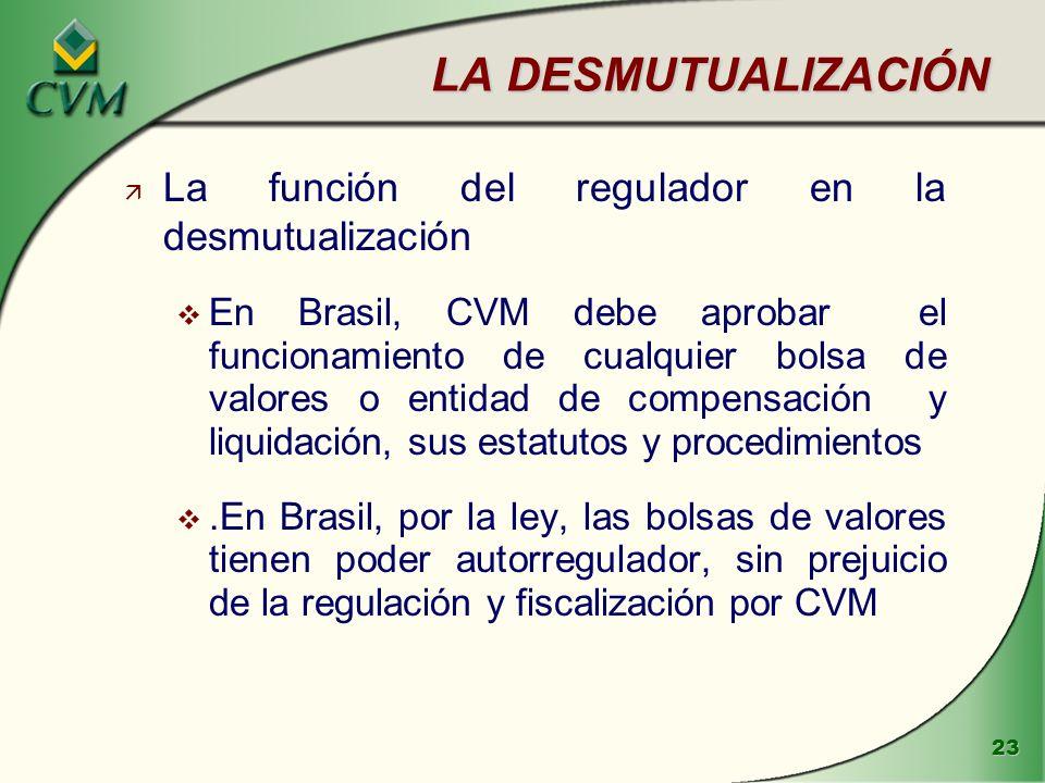 LA DESMUTUALIZACIÓN La función del regulador en la desmutualización