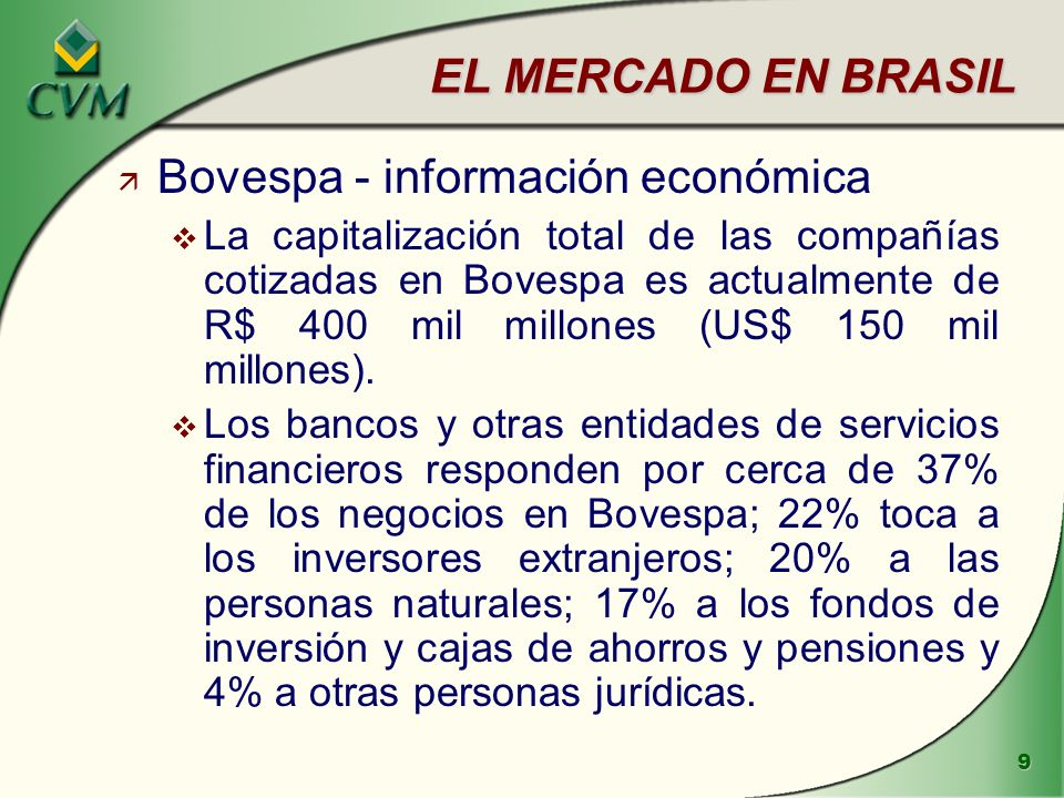 Bovespa - información económica