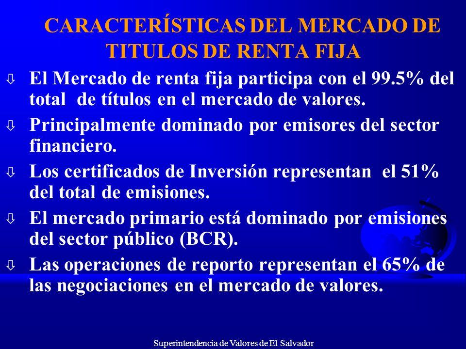 CARACTERÍSTICAS DEL MERCADO DE TITULOS DE RENTA FIJA