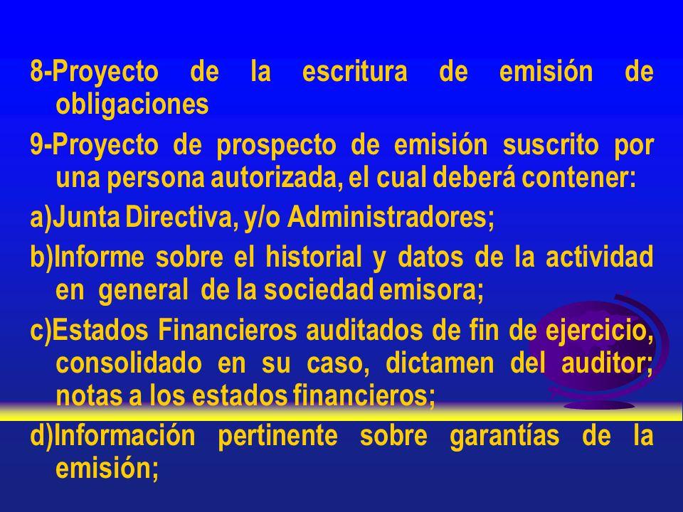 8-Proyecto de la escritura de emisión de obligaciones
