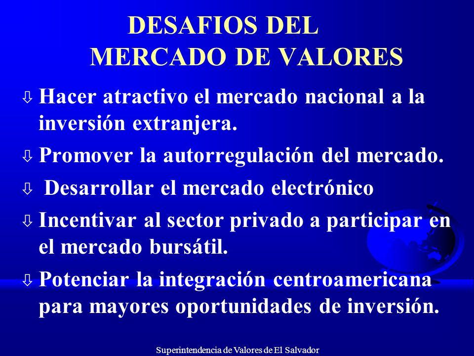 DESAFIOS DEL MERCADO DE VALORES