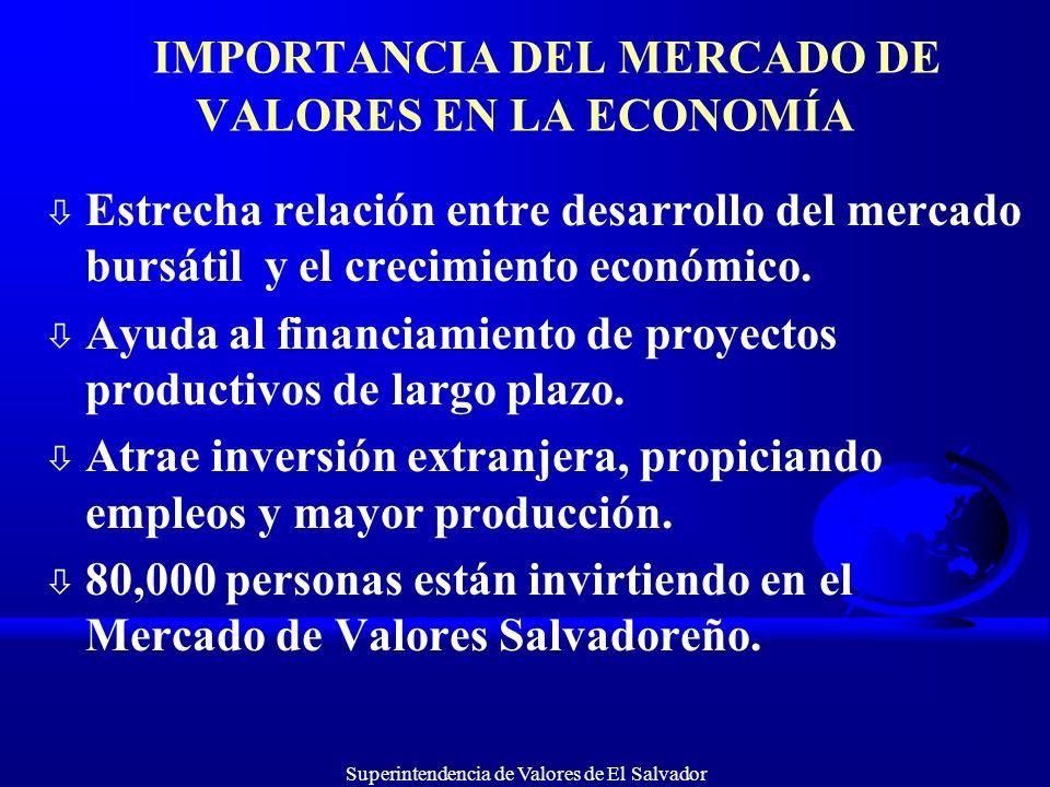 IMPORTANCIA DEL MERCADO DE VALORES EN LA ECONOMÍA