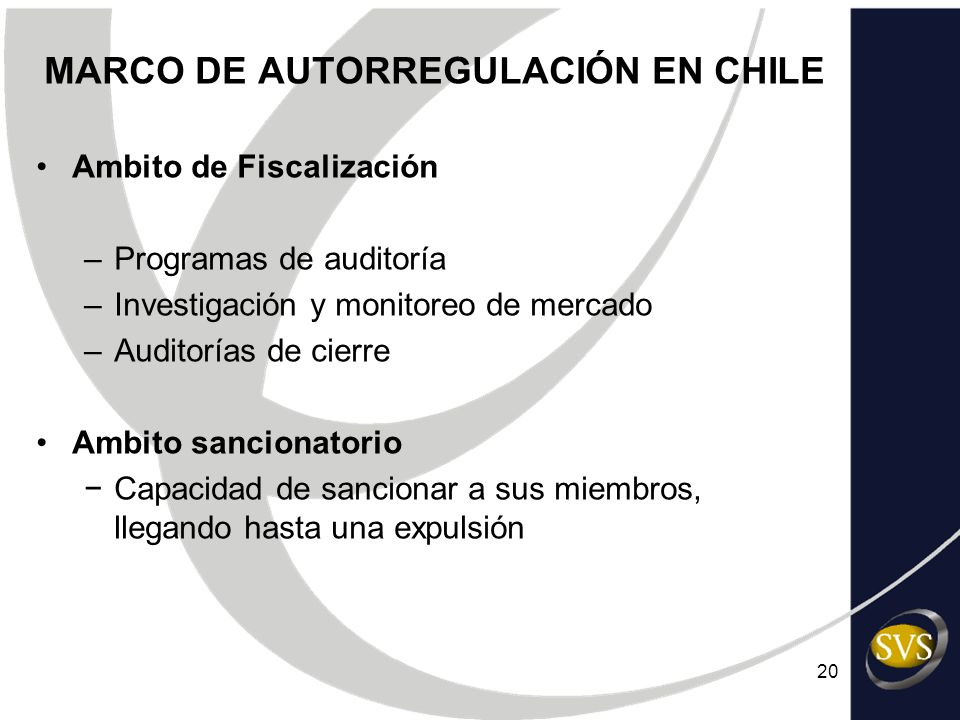 MARCO DE AUTORREGULACIÓN EN CHILE