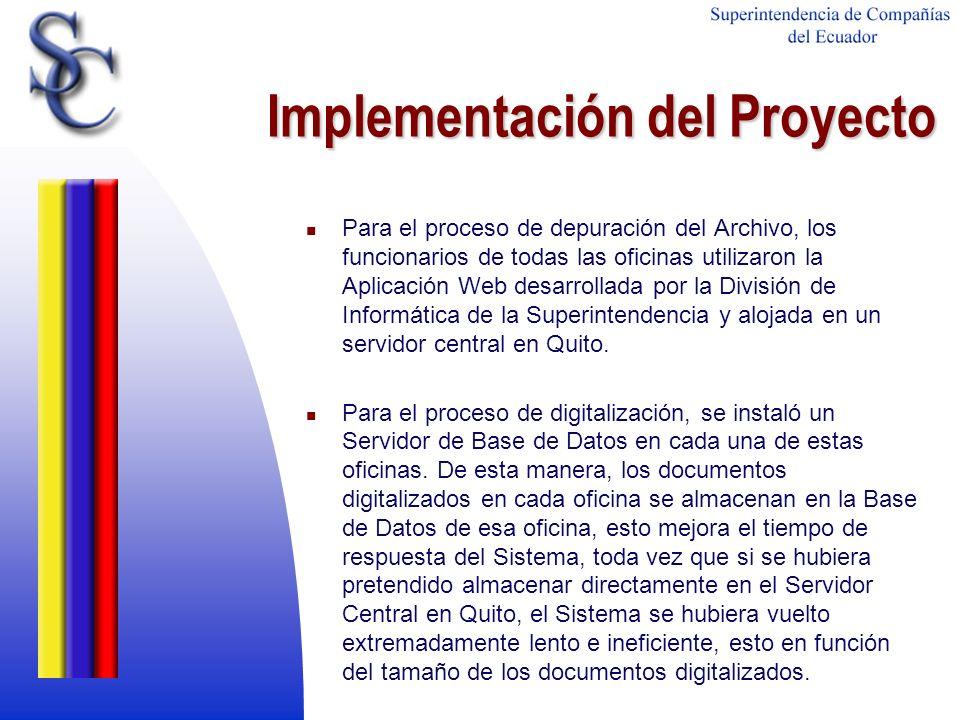 Implementación del Proyecto