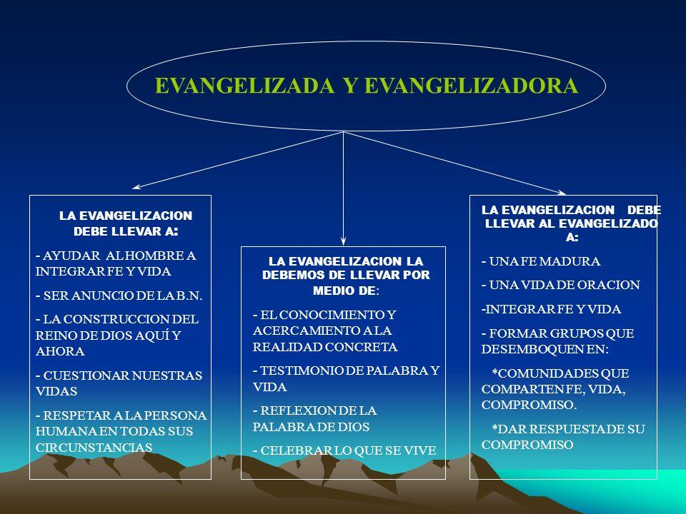 EVANGELIZADA Y EVANGELIZADORA
