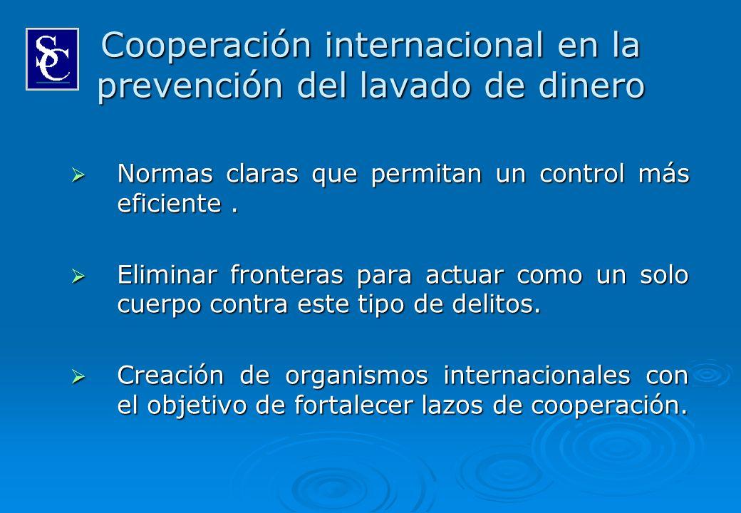 Cooperación internacional en la prevención del lavado de dinero