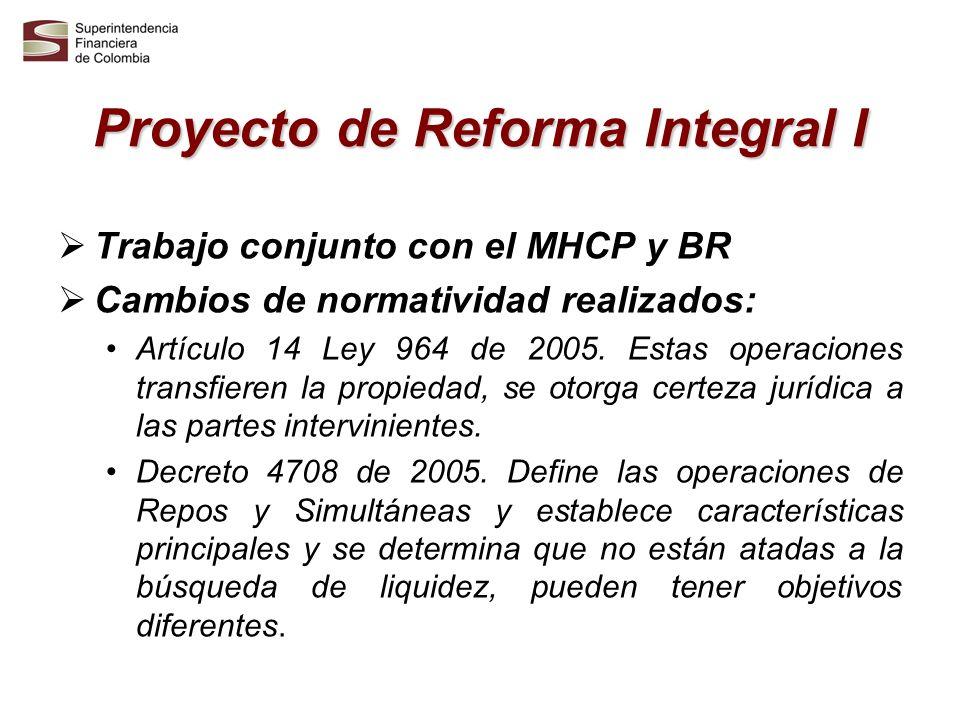 Proyecto de Reforma Integral I