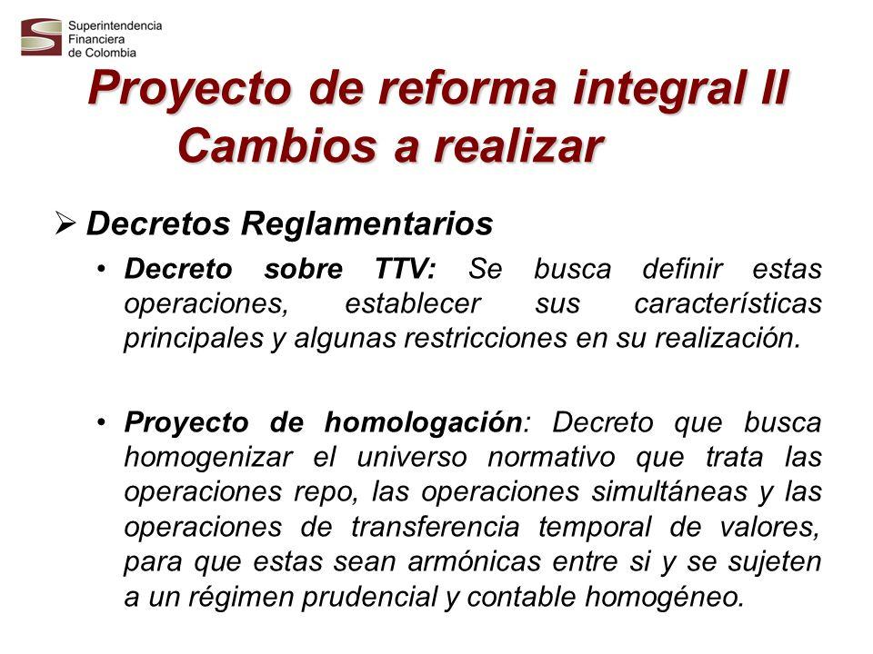Proyecto de reforma integral II Cambios a realizar