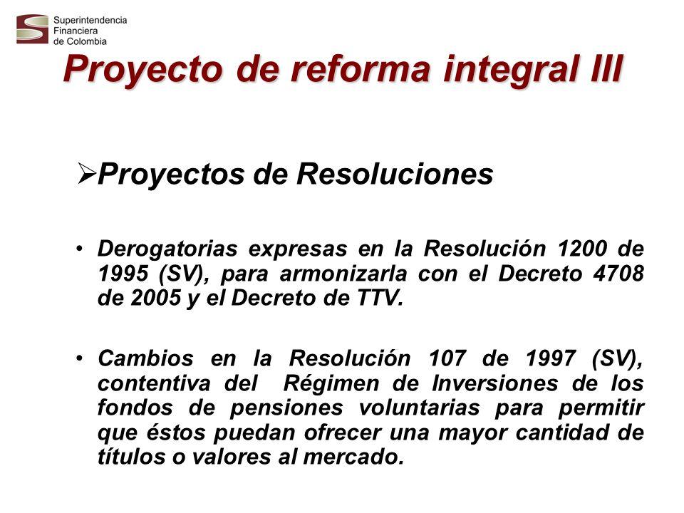 Proyecto de reforma integral III