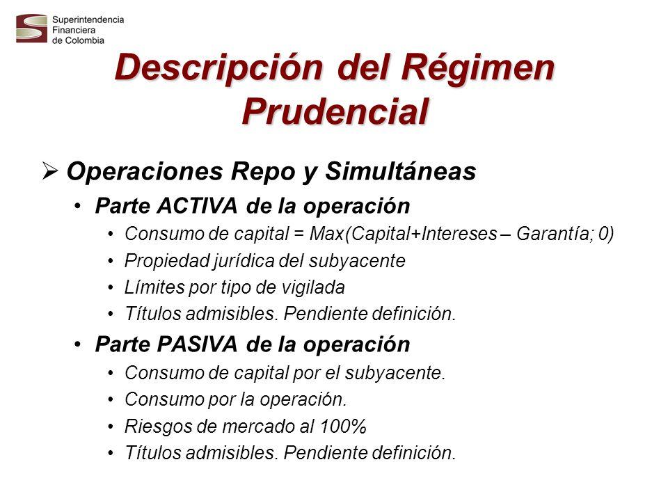 Descripción del Régimen Prudencial