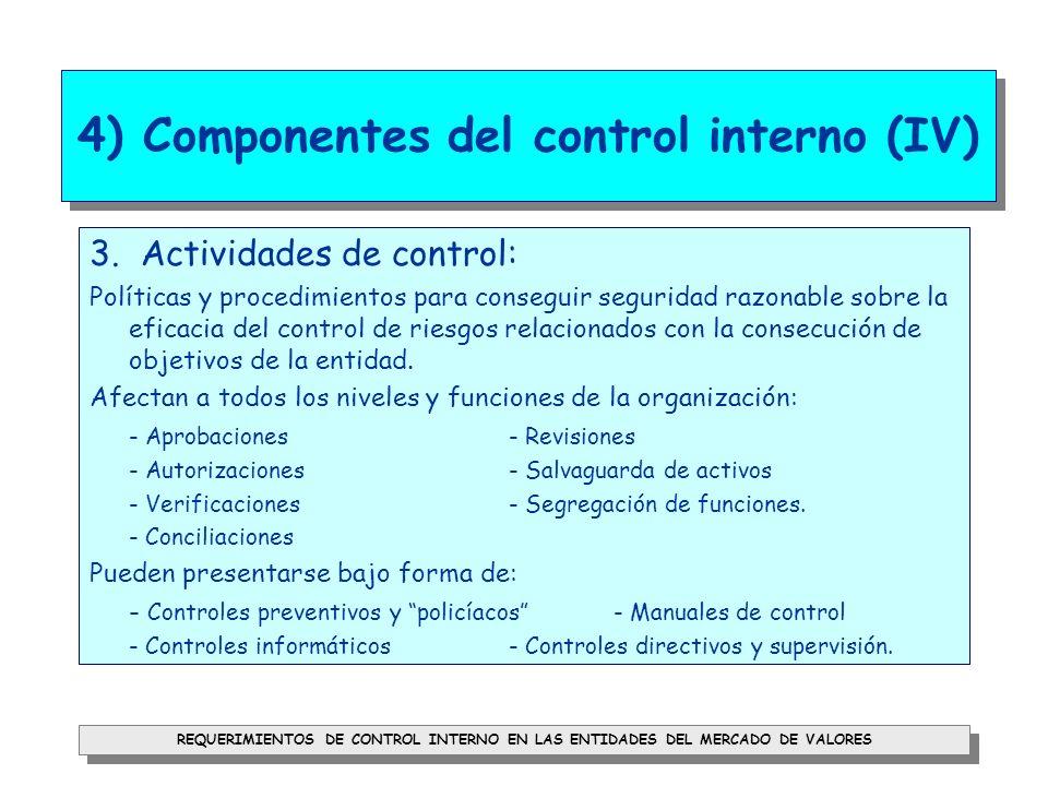 4) Componentes del control interno (IV)