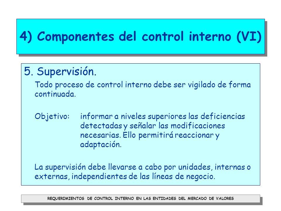 4) Componentes del control interno (VI)