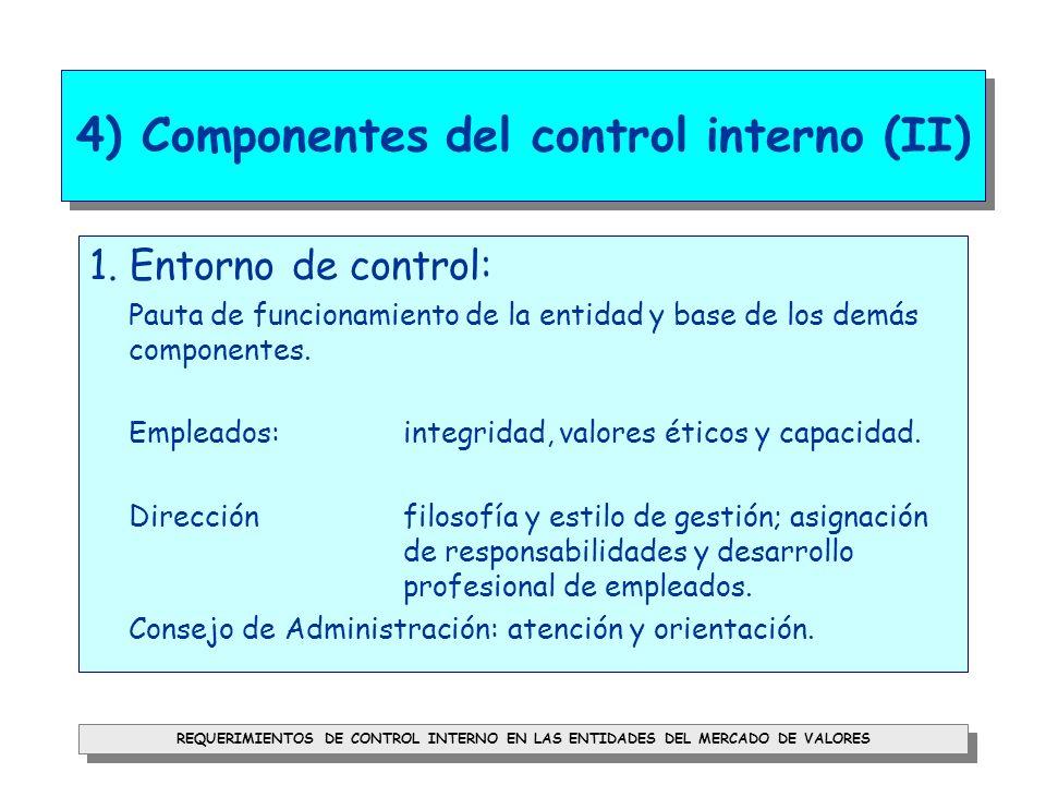 4) Componentes del control interno (II)