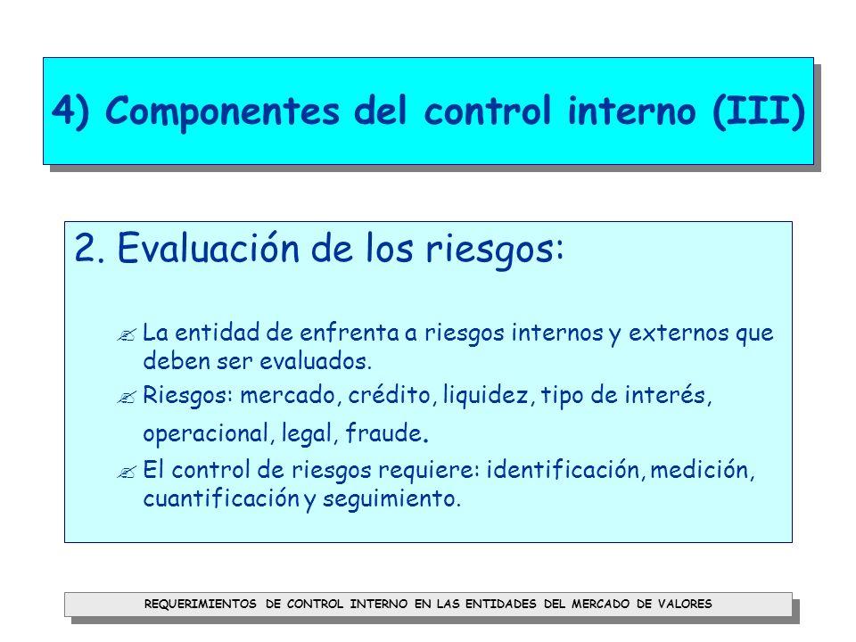 4) Componentes del control interno (III)