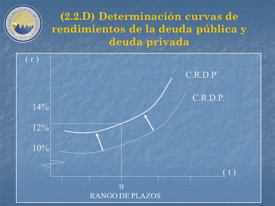 (2.2.D) Determinación curvas de rendimientos de la deuda pública y deuda privada