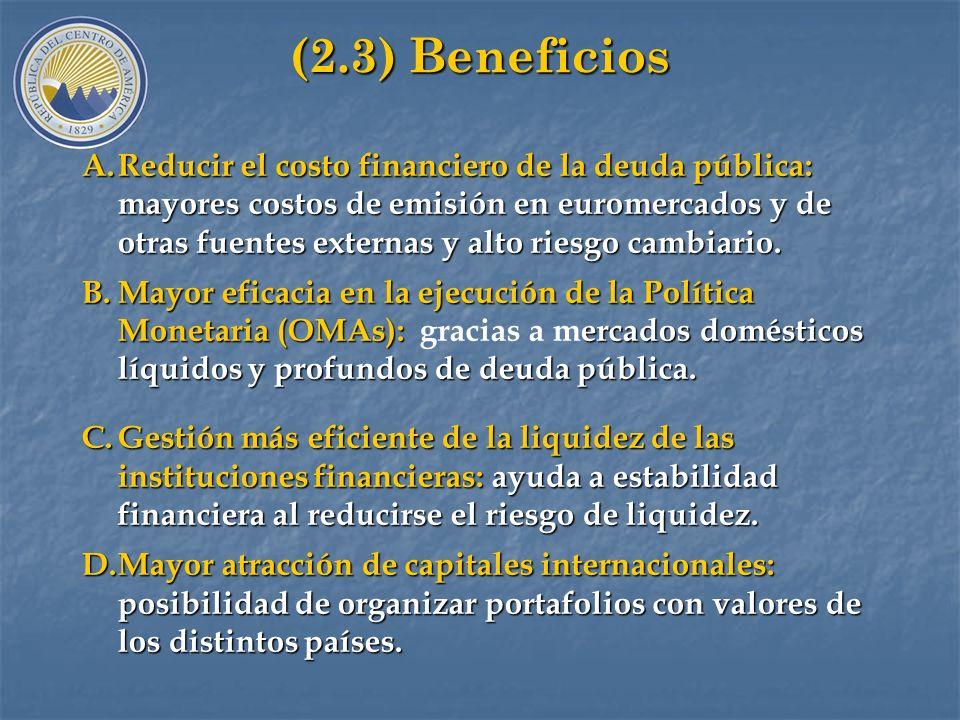 (2.3) Beneficios