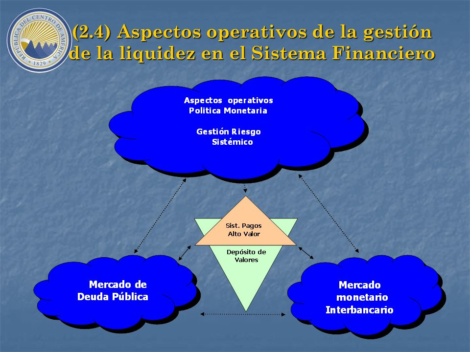 (2.4) Aspectos operativos de la gestión de la liquidez en el Sistema Financiero